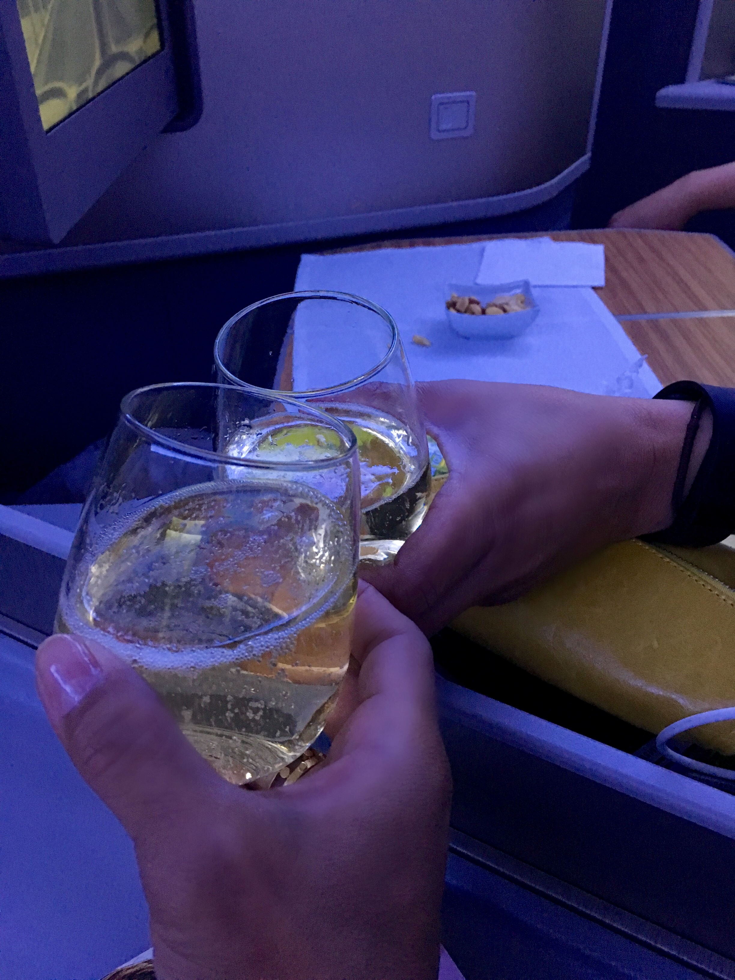Champagne on the way to Rio